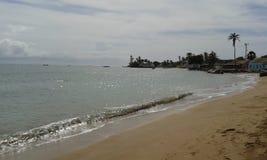Paradisiacal krajobraz relaksująca plaża zdjęcie stock