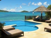 Paradisisk semesterort för hotell Arkivbild