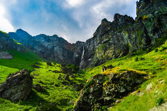 Paradisnedgångar i det Stara Planina berget Royaltyfria Foton