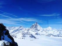 paradiso del ghiacciaio del Cervino Fotografia Stock Libera da Diritti