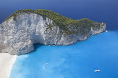 Paradiso dell'isola. Mare ionico della Grecia Zacinto immagine stock