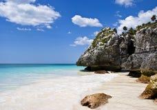 Paradiso della spiaggia in Tulum, Messico Immagine Stock Libera da Diritti