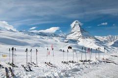 Paradiso dello sci del Cervino Fotografia Stock Libera da Diritti