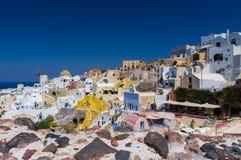 Paradiso di Santorini su terra Immagini Stock Libere da Diritti