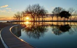 Paradiso di tramonto in Umag, Croazia immagini stock libere da diritti