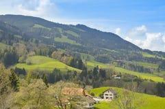 Paradiso in Gruyerse, Svizzera, Europa Fotografie Stock Libere da Diritti