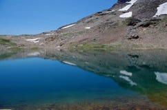 Paradiso nelle alpi - lago Forcola - Livigno, Italia Fotografie Stock