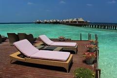 Paradiso su terra - Ari Atoll, Maldive fotografie stock