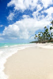 Paradiso tropicale - spiaggia bianca delle sabbie Fotografia Stock Libera da Diritti