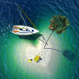Paradiso tropicale su una piccola isola Fotografie Stock