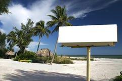 Paradiso tropicale w/Billboard Fotografia Stock Libera da Diritti