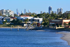 Paradispunkt Gold Coast Queensland Australien Arkivfoto