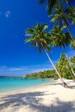 Paradissemester på en tropisk ö Arkivfoton