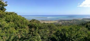 Paradissolnedgång île maurice Royaltyfri Bild