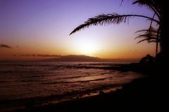 paradissolnedgång Fotografering för Bildbyråer