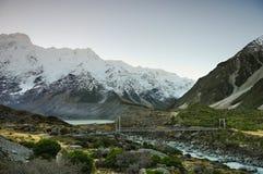 Paradisställen i södra Nya Zeeland/montering lagar mat National Park Arkivfoto