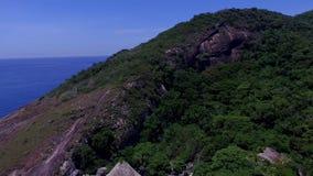 Paradisstrand, härlig strand, underbara stränder runt om världen, Grumari strand, Rio de Janeiro, Brasilien arkivfilmer