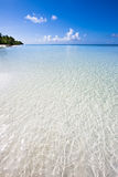 Paradisstrand i det indiska havet Royaltyfri Foto