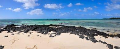 Paradisstrand. mauritius ö. Royaltyfria Bilder