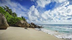 Paradisstrand på Seychellernaen 12 Royaltyfri Fotografi