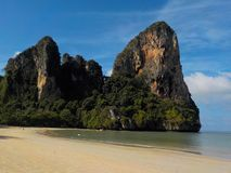 Paradisstrand västra Railay, Krabi, Thailand royaltyfri foto