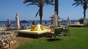 ParadisstrandAgia Napa Cypern semester Arkivfoto