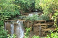 Paradisvattenfall i Kanchanaburi, Thailand. Royaltyfria Bilder