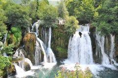 Paradisvattenfall på floden Una Royaltyfria Foton