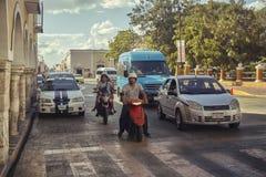Parado en tráfico mexicano foto de archivo libre de regalías