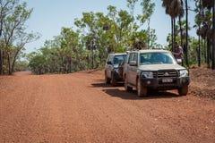 Parado junto al camino de Kalumburu en Australia occidental fotos de archivo libres de regalías