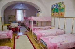 Parador con las camas Fotografía de archivo