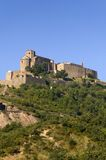 Parador de Cardona, a 9th Century medieval hillside Castle, near Barcelona, Catalonia, Cardona, Spain Stock Photography