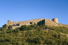 Parador de Cardona, a 9th Century medieval hillside Castle, near Barcelona, Catalonia, Cardona, Spain Royalty Free Stock Photography