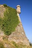 Parador de Cardona, un castillo medieval de la ladera del siglo IX, cerca de Barcelona, Cataluña, Cardona, España Foto de archivo