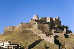 Parador de Cardona, un château médiéval de flanc de coteau de 9ème siècle, près de Barcelone, la Catalogne, Cardona, Espagne Photographie stock libre de droits