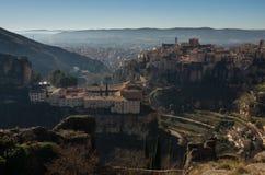 Parador de Cuenca Μοναστηριών και Cuenca του Saint-Paul μεσαιωνικός παλαιός Στοκ Φωτογραφίες