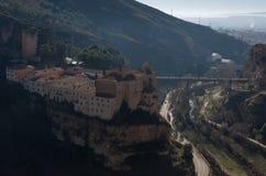 Parador de Cuenca Монастырь St Paul в окраинах Cuenca, в Испании стоковое изображение