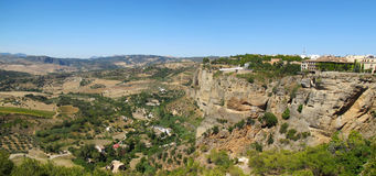 Parador de Ronda - Overlooks Gorge Royalty Free Stock Image
