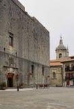 Parador De Turismo† i główny plac, Hondarribia, Baskijski kraj, Hiszpania Zdjęcie Stock