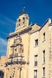 Parador nacional av Cuenca i Castille La Mancha, Spanien Arkivbild