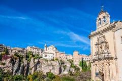 Parador nacional av Cuenca i Castille La Mancha, Spanien Fotografering för Bildbyråer