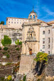 Parador nacional av Cuenca i Castille La Mancha, Spanien Royaltyfri Foto