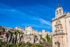 Parador nacional of Cuenca in Castille La Mancha, Spain. Stock Image