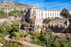 Parador nacional Cuenca w Castille Los Angeles Mancha, Hiszpania Obraz Stock