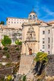 Parador nacional von Cuenca im Castille La Mancha, Spanien Lizenzfreies Stockfoto