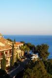 Parador overlooking sea, Malaga. Royalty Free Stock Photos
