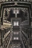 Paradox Fantasy Building-Hintergrund Lizenzfreie Stockfotografie