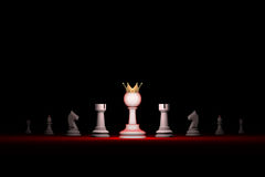 Paradox. Strong leader. Prompt career (big success) .Vertical of. Prompt career. Horizontal chess composition. Standing Out from the Crowd. Available in high Stock Photos