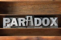Paradox word tray Stock Photos