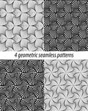 4 Paradox zentangle patterns. Set of 4 vector zentangle patterns. Black and white zentangle backgrounds. Paradox zentangle patterns. Each pattern is on swatches Stock Images